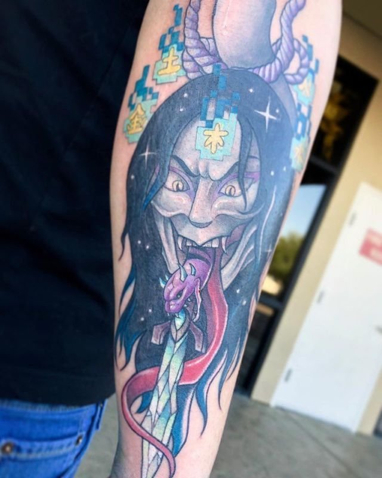 Cybertraditonal Orochimaru Tattoo