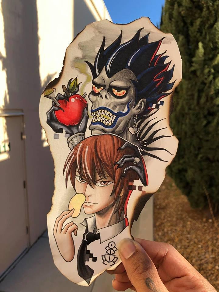Light Yagami tattoo deisgn