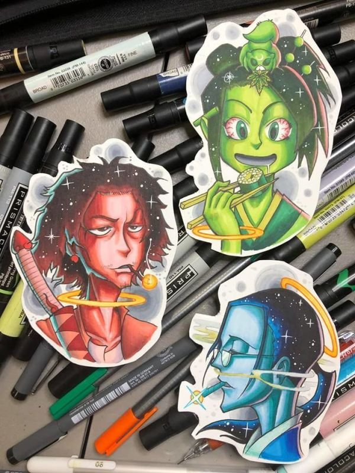 Champloo crew tattoo designs