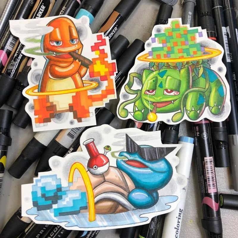 Starter Pokemon Tattoo designs