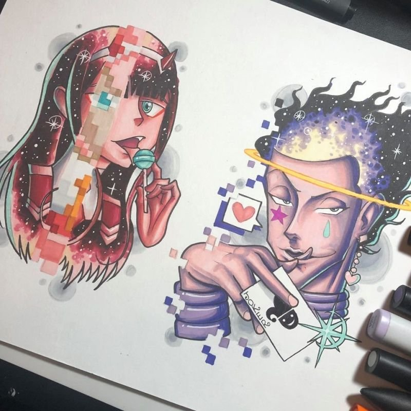 Tattoo Flash: 002 and Hisoka
