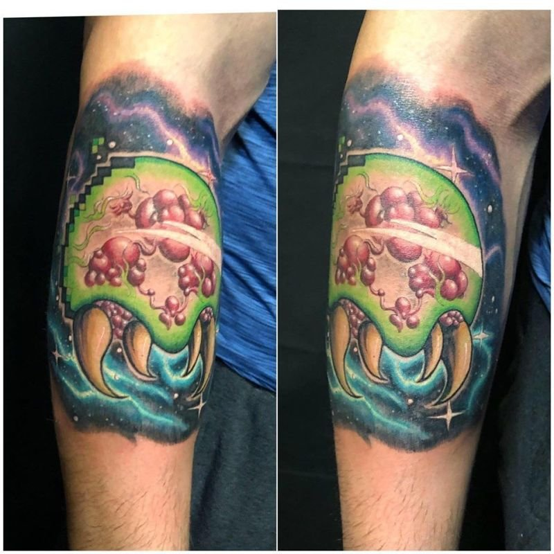 Giant Metroid Tattoo
