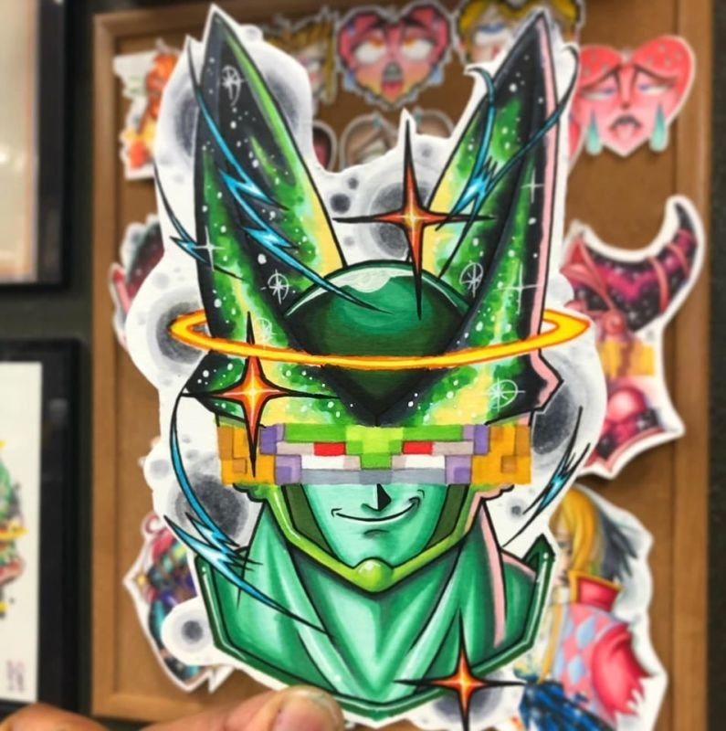 Perfect Cell Tattoo Design