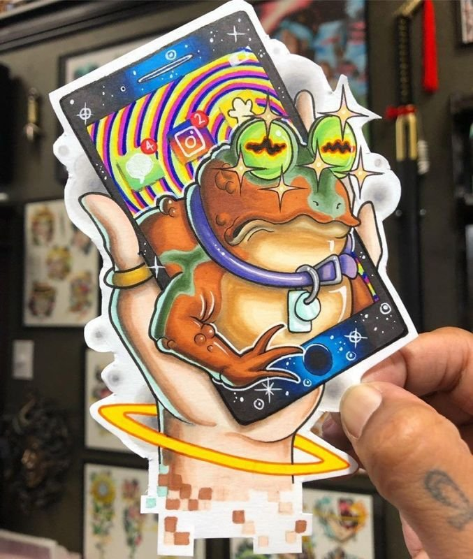 Hypnotoad Tattoo design