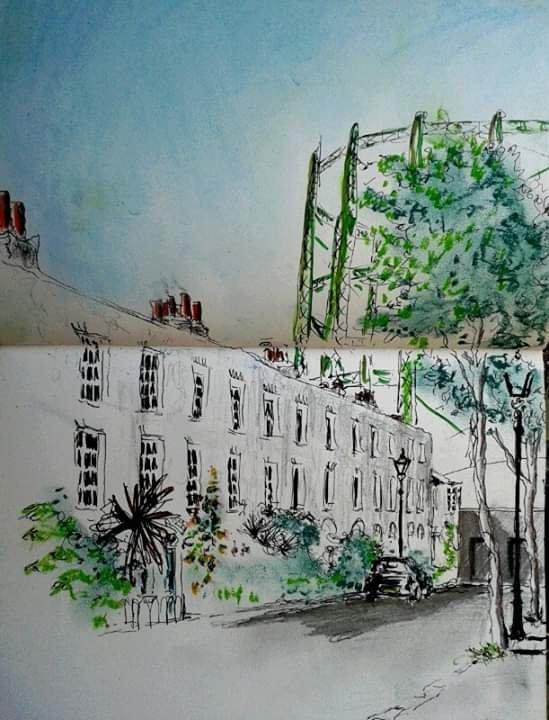 Street Scene, the Oval