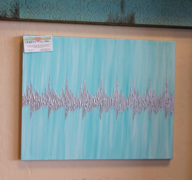Custom Painted Heartbeat Canvas