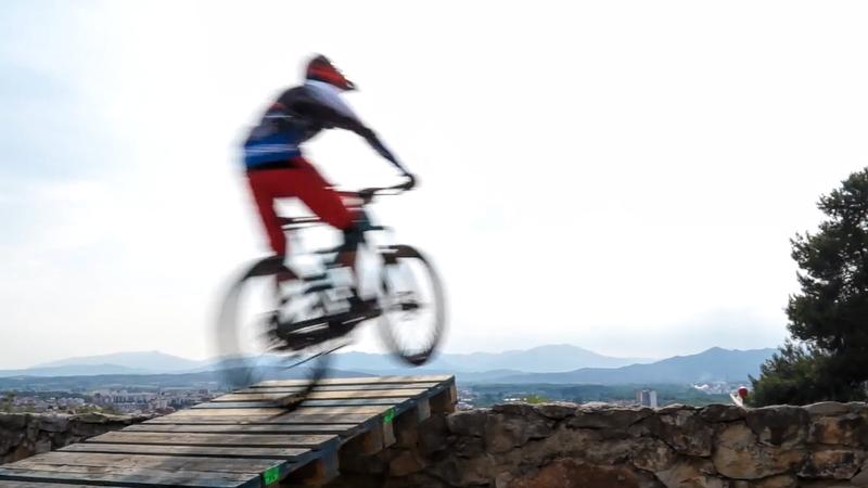 Girona Urban Downhill bike race