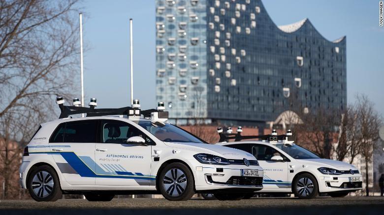 Volkswagen is testing autonomous vehicles in Hamburg, Germany. Source: Volkswagen