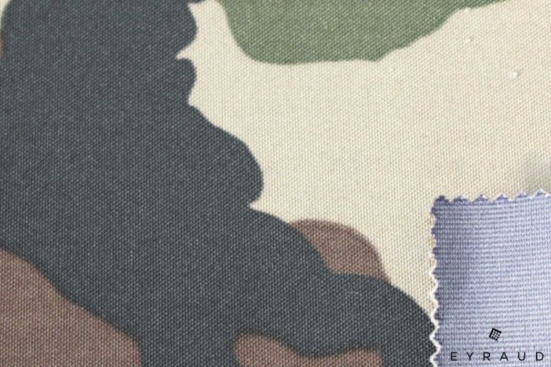Military printing 3 layers with PU PES and PTFE membrane with polyester veil or charmeuse