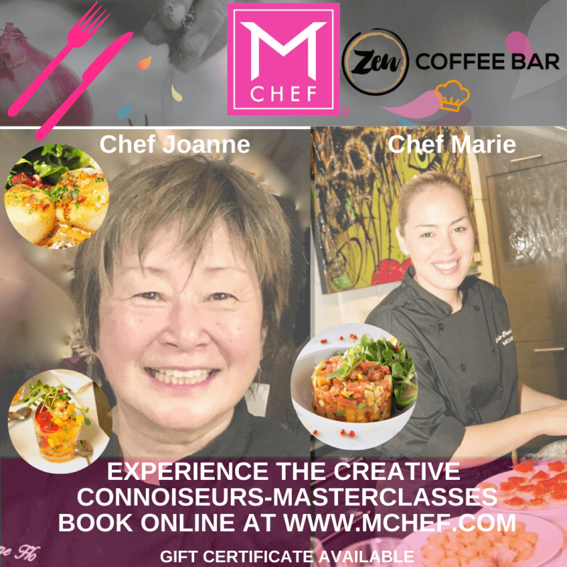 Masterclasses: Have fun learning with Chef Marie while tasting GREAT FOOD at ZEN Coffee Bar in Las Vegas