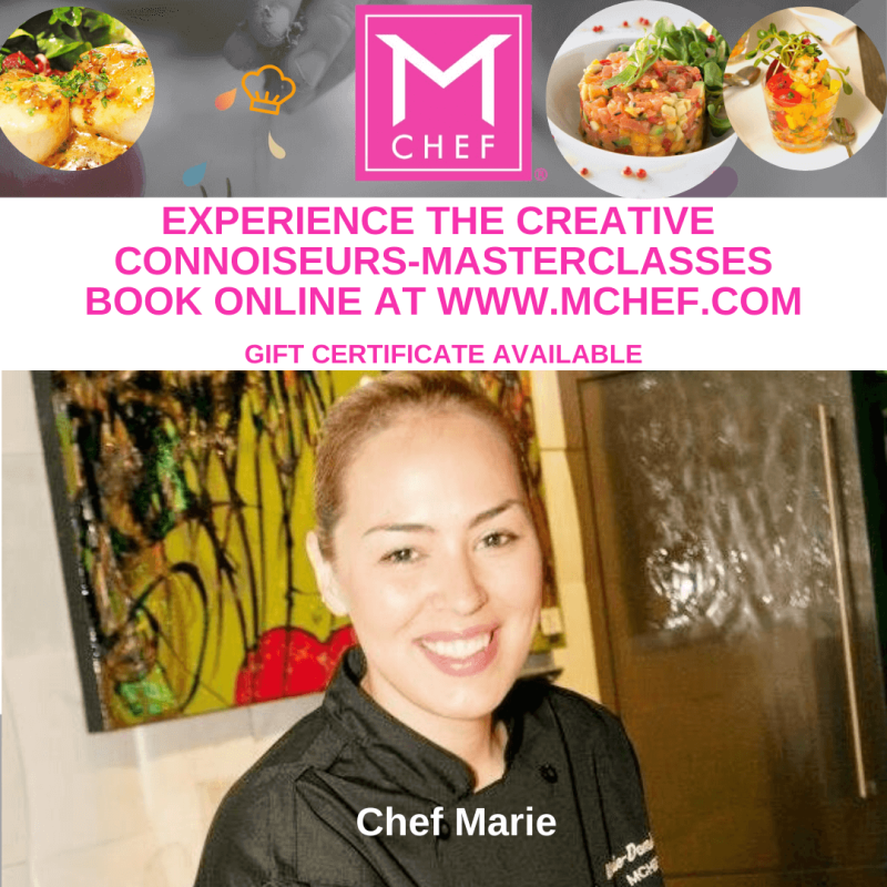 Masterclasses: Have fun learning with Chef Marie while tasting GREAT FOOD in Las Vegas