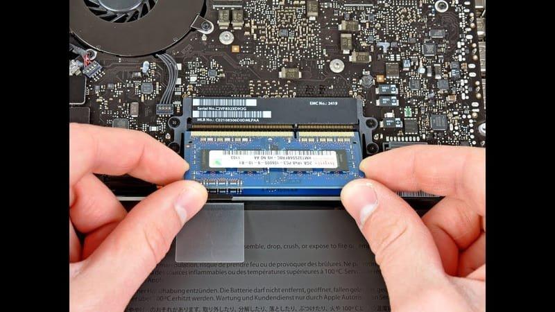 Αναβάθμιση μνήμης σε Macbook (RAM) 12€