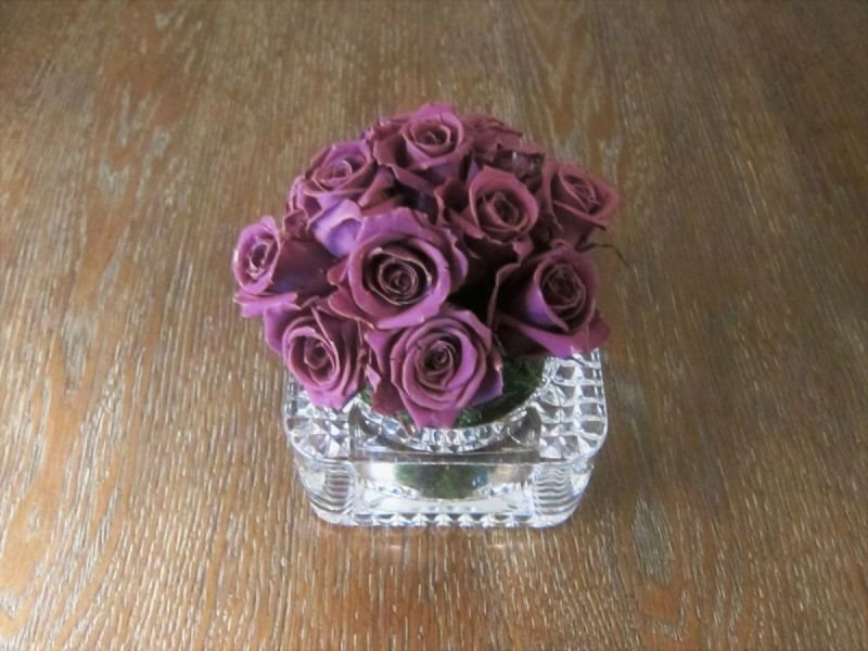 112 1 Dozen mini roses with Crystal