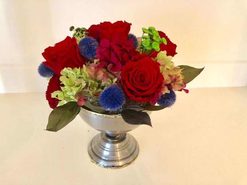 118 Mixed Rose with Hydrangea