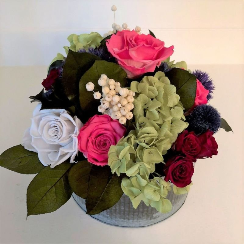 117 Multi-color Roses and Hydrangea