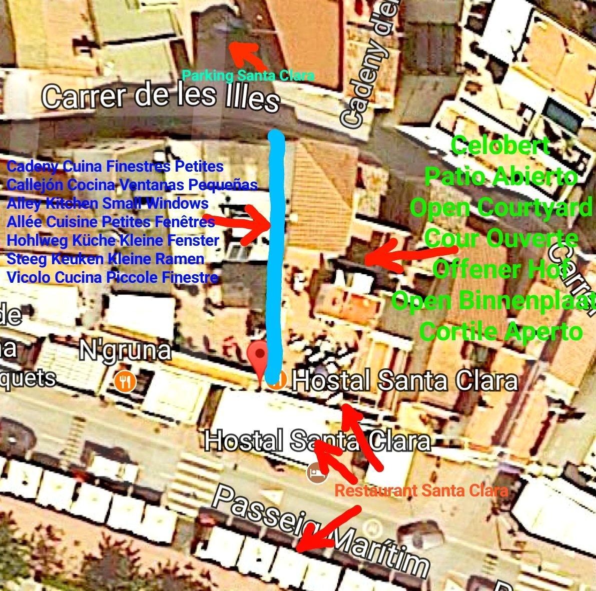 map santa clara hostal estartit