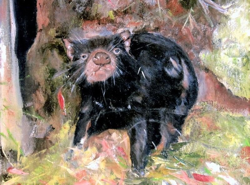 Curious Devil - Oil Painting SOLD