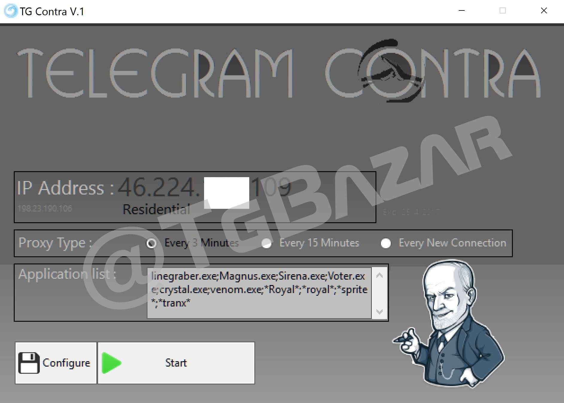 telegram contra