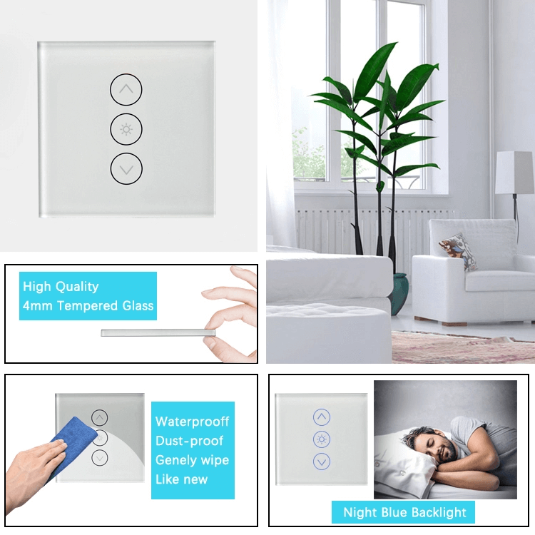 220V Smart Phone Wifi Control Support Touch Screen Dimmer Light Switch with Timing function