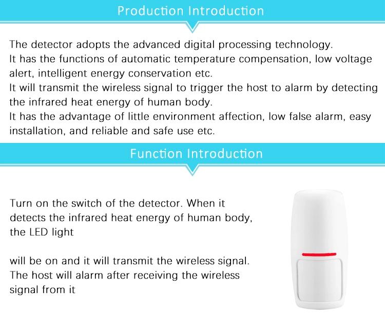 Wireless Mini PIR Motion Sensor Detector for Tuya Smart Home Siren Alarm Security System