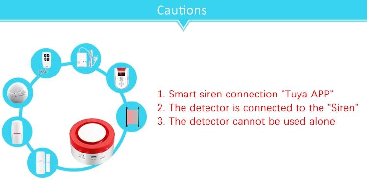 433M Wireless Remote Control Water Leak Detector Sensor for Tuya Smart Home Siren Alarm System