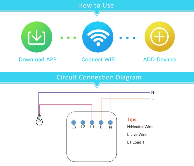 US Wireless Remote Controlled Tempered Glass Dimmer Switch Supports Tuya APP Smart Home Security System