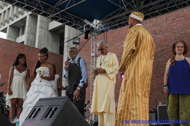 BGF 2014 Mela and Tony Miles -  Wedding