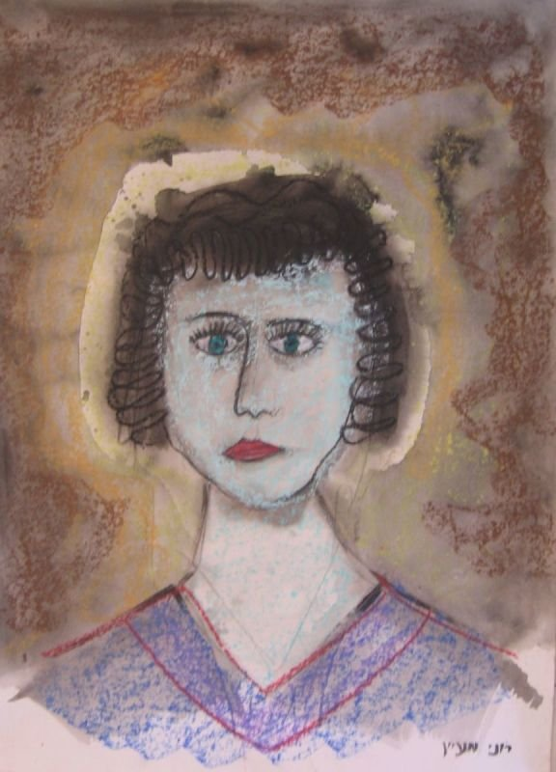 OIL PASTEL PAINTING - A NURSE|   שם: אחות רחמניה