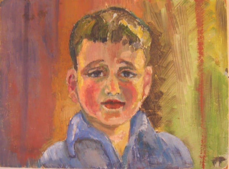 OIL PASTEL PAINTING - A BOY  |   שם: נער