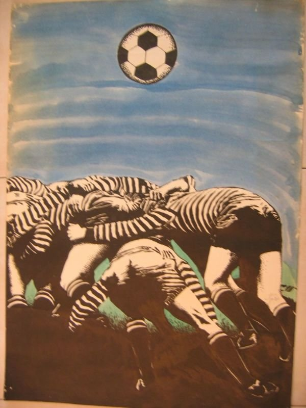 OIL PASTEL PAINTING - WHERE IS THE BALL?  |   שם: איפה הכדור?