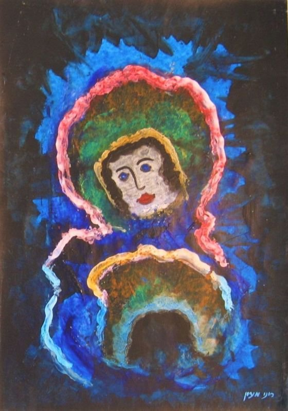 OIL PASTEL PAINTING - QUEEN OF THE NIGHT  |   שם: מלכת הלילה