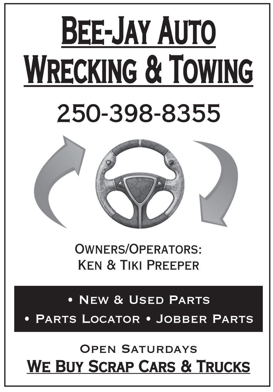 Click to visit the Bee Jay Autowrecking And Towing Facebook page.