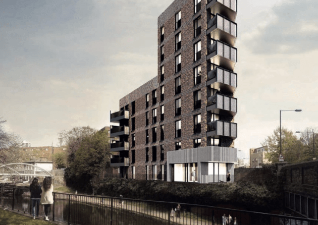 Rejected tower block now gets go-ahead for Limehouse Triangle by Tower Hamlets Council. Picture: LBTH