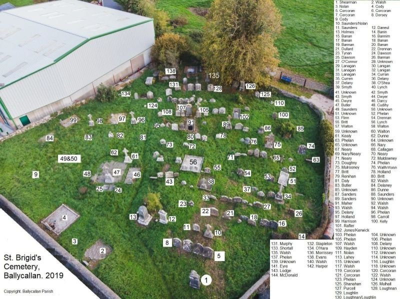 St. Brigid's Cemetery, Ballycallan