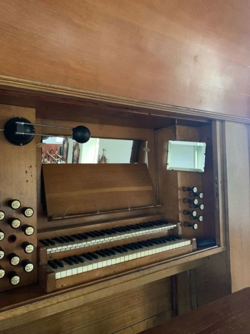 Ballycallan Church Organ.  Twin keyset