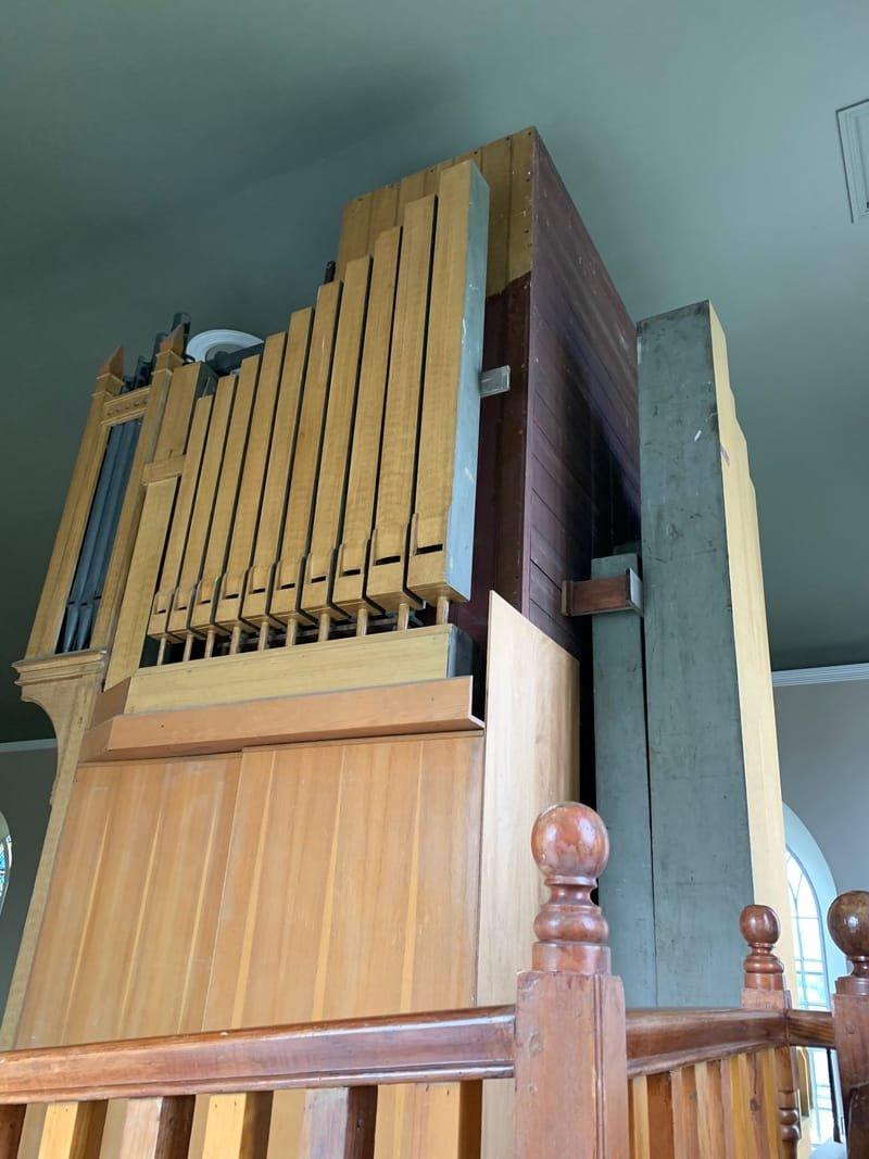 Ballycallan Church Organ.  Right Side View
