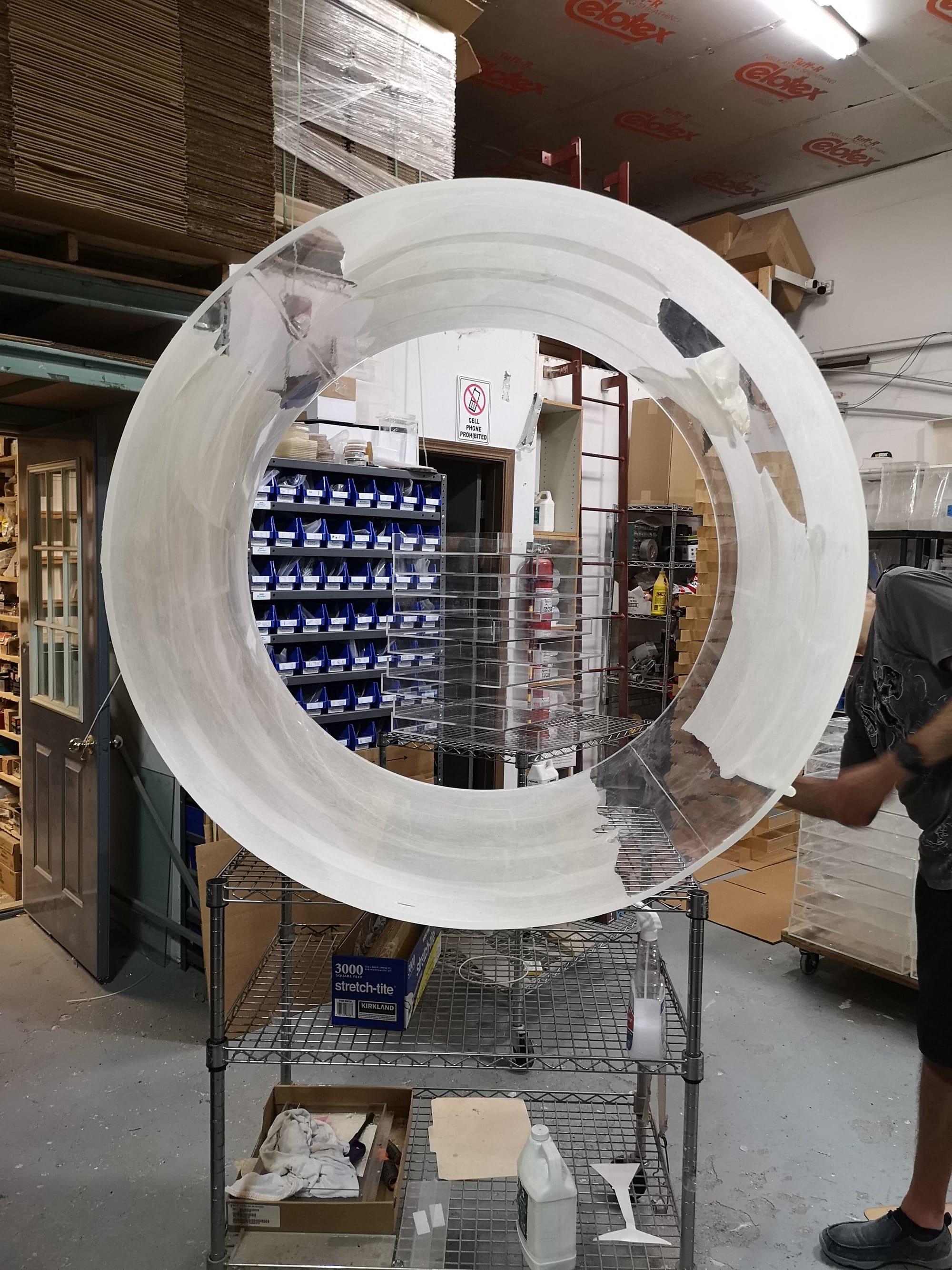 Large Custom Acrylic Tube - Custom Acrylic Fabrication
