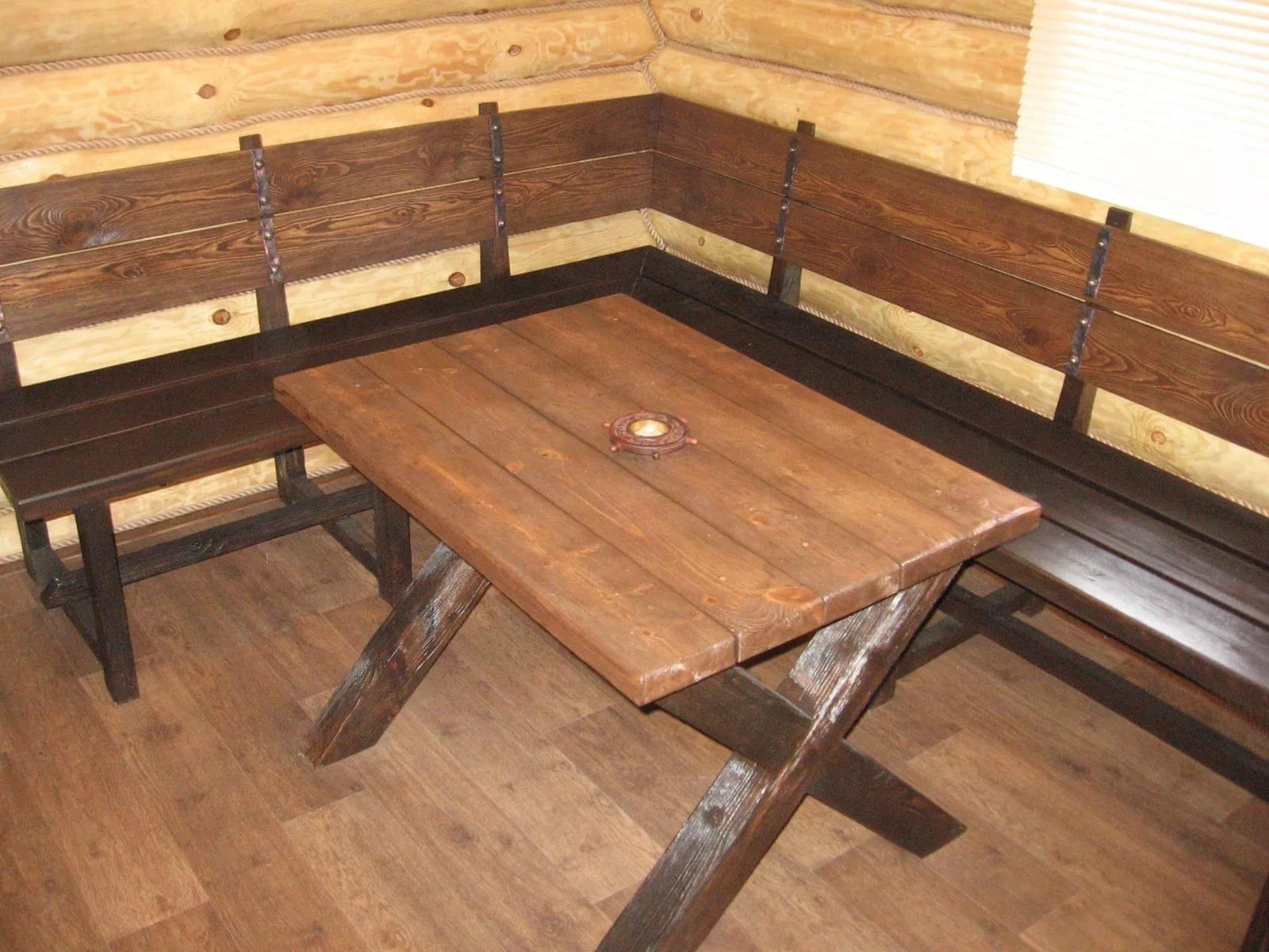 Стол скамейки в баню своими руками фото