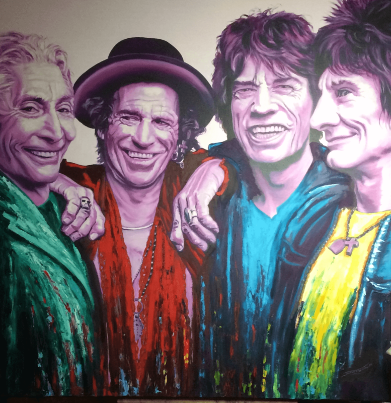 The Stones • IT'S ONLY ROCK'N'ROLL *This is a ONE OFF Hand Finished Limited Edition Print