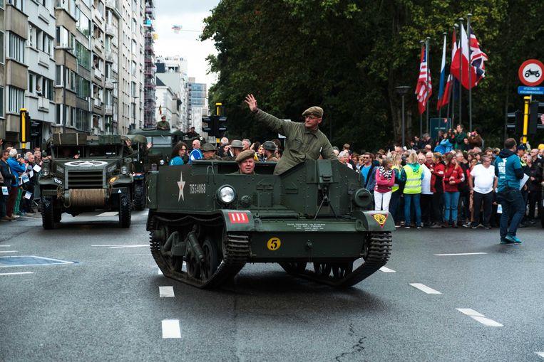 In Antwerpen trok begin september een Bevrijdingsparade door de straten.