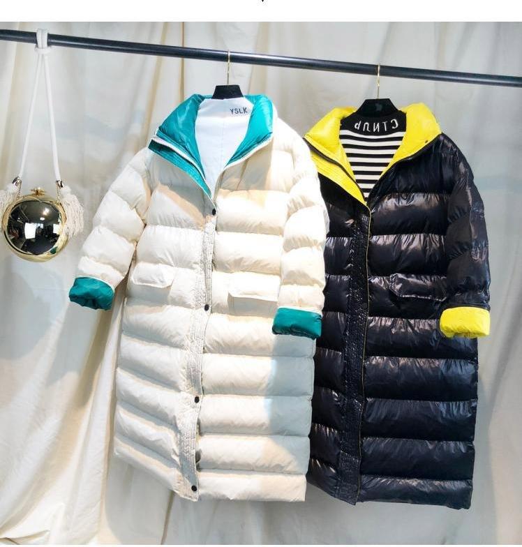 für ultraleichte Winter Mantel Frauen weiße langer K3TF1Jul5c