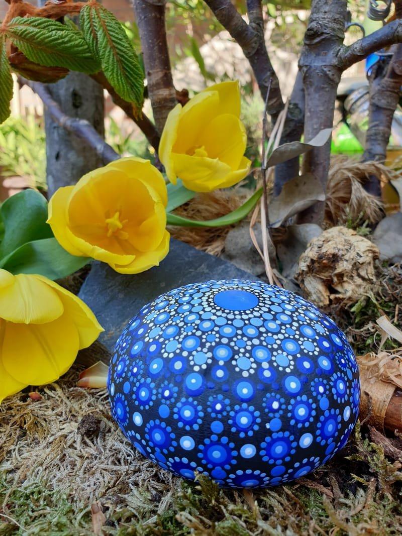 Mandala meditatie steen