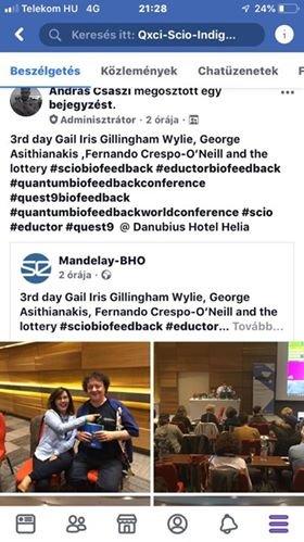 Ομιλητής για την φαρμακευτική κάνναβη στο παγκόσμιο συνένδριο biofeedback Ουγγαρία Βουδαπέστη 10/2018
