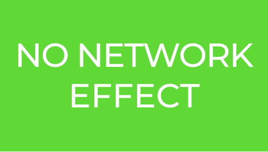 NO NETWORK EFFECT