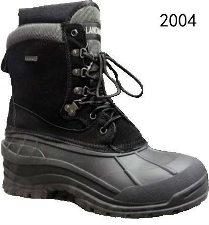混合尺寸男士黑色棕色WiNTER Snow鞋工作鞋皮革防水码