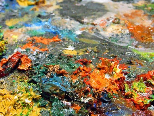 פלטה של צבעים