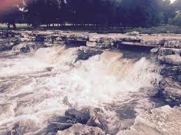 Waterfalls on Legacy Lake
