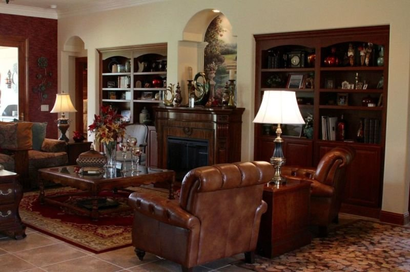 Large Leather living room chairs.