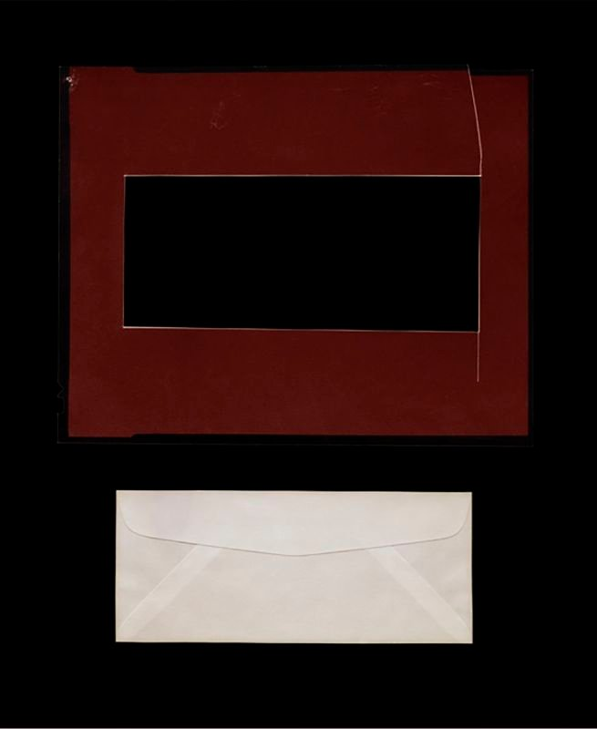 Envelope, Found Object + Photograph, 120 x 96 cm, 2014