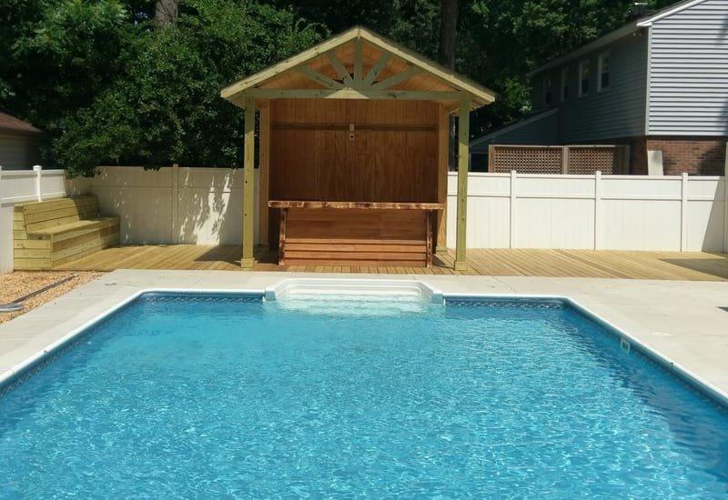 Virginia Beach Pool Bar & Custom Wood Deck